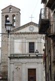 Chiesa nel villaggio medievale di Agnone Fotografia Stock Libera da Diritti