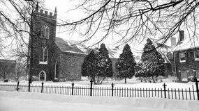 Chiesa nell'inverno Immagini Stock Libere da Diritti