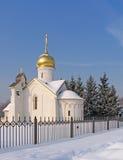 Chiesa nell'inverno Fotografia Stock