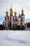Chiesa nell'inverno Ceboksary Fotografie Stock
