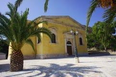 Chiesa nell'isola della Zacinto Immagini Stock Libere da Diritti