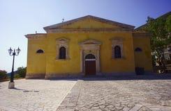 Chiesa nell'isola della Zacinto Immagine Stock Libera da Diritti