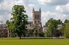 Chiesa nella città di Cambridge Fotografie Stock