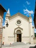 Chiesa nella città di Sighisoara Immagini Stock