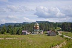 Chiesa nella foresta Fotografia Stock