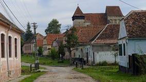 Chiesa nella giumenta di Copsa, la Transilvania, Romania Immagine Stock Libera da Diritti