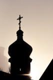 Chiesa nella nebbia Fotografie Stock Libere da Diritti