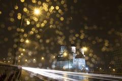 Chiesa nella notte Immagine Stock Libera da Diritti