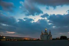 Chiesa nella notte Fotografie Stock