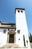 Chiesa nella vecchia città di Granada fotografie stock libere da diritti