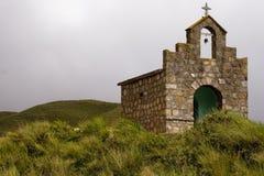 Chiesa nelle montagne Fotografie Stock