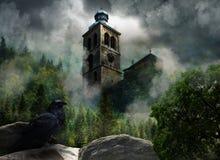 Chiesa nelle nubi Fotografia Stock