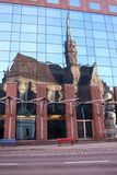 Chiesa nello specchio Fotografia Stock Libera da Diritti