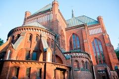 Chiesa neogotica in Pruszkow Fotografia Stock Libera da Diritti