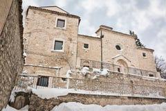 Chiesa in neve Fotografia Stock