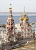 Chiesa Nižnij Novgorod di Stroganov di vista di marzo Fotografia Stock