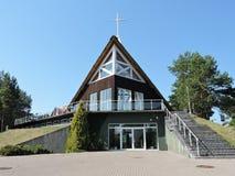 Chiesa in Nida, Lituania immagine stock