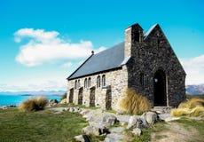 Chiesa Nuova Zelanda di Tekapo Immagini Stock Libere da Diritti