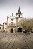 Chiesa in Obidos Portogallo Fotografia Stock