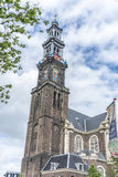 Chiesa occidentale a Amsterdam, Paesi Bassi immagini stock