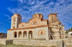 Chiesa in Ocrida, Macedonia - san Panteleimon di Plaoshnik fotografia stock libera da diritti