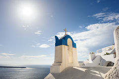 Chiesa a Oia, Santorini fotografie stock libere da diritti