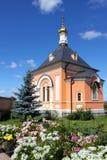 Chiesa in onore del Tranfiguration nel monastero di Optina, Russia Fotografia Stock