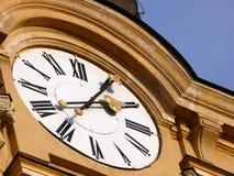 Chiesa-orologio Fotografia Stock Libera da Diritti