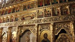 Chiesa ortodossa - altare Fotografia Stock