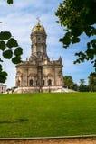 Chiesa ortodossa antica del segno della nostra chiesa di signora Znamenskaya in proprietà terriera Dubrovitsy, Russia Immagine Stock Libera da Diritti