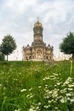 Chiesa ortodossa antica del segno della nostra chiesa di signora Znamenskaya in proprietà terriera Dubrovitsy, Russia Fotografie Stock Libere da Diritti