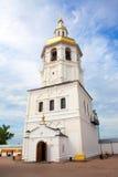 Chiesa ortodossa con le cupole dorate Fotografia Stock