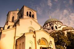 Chiesa ortodossa del san Sava La Serbia, Belgrado Fotografia Stock