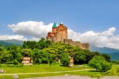 Chiesa ortodossa del XVI secolo di Gremi in Kakheti, Georgia fotografie stock