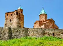 Chiesa ortodossa del XVI secolo di Gremi in Kakheti, Georgia fotografia stock libera da diritti