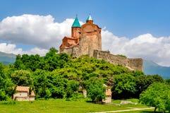 Chiesa ortodossa del XVI secolo nella regione di Kakheti, Georgia di Gremi fotografie stock