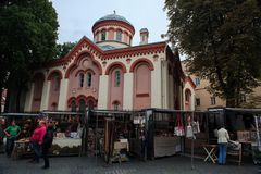 Chiesa ortodossa della st Paraskeviya Fotografia Stock