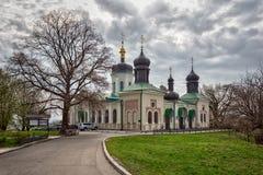 Chiesa ortodossa di Kiev nel giardino botanico Fotografia Stock