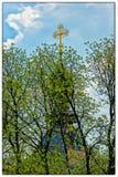 Chiesa ortodossa di Kiev nel giardino botanico Fotografia Stock Libera da Diritti