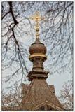 Chiesa ortodossa di Kiev nel giardino botanico Fotografie Stock Libere da Diritti