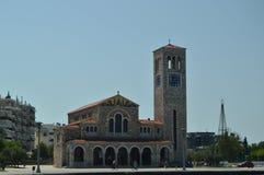 Chiesa ortodossa di Konstantinos On Its Main Facade Viaggio di storia di architettura fotografia stock libera da diritti