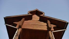 Chiesa ortodossa di legno video d archivio