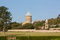 Chiesa ortodossa di trasfigurazione di Samtavro e monastero della st Nino in Mtskheta Fotografia Stock