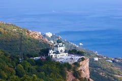 Chiesa ortodossa in Foros, Crimea Fotografia Stock Libera da Diritti