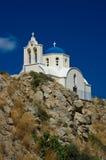 Chiesa ortodossa in Kamari Immagine Stock