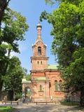 Chiesa ortodossa in Kuld?ga. La Lettonia. Fotografie Stock Libere da Diritti