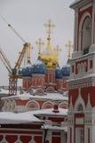 Chiesa ortodossa a Mosca Immagini Stock Libere da Diritti