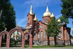 Chiesa ortodossa in Mustvee, Estonia fotografia stock