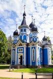 Chiesa ortodossa nella città di Druskininkai, Lituania immagine stock