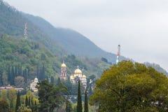 Chiesa ortodossa in nuovo Athos Fotografie Stock Libere da Diritti